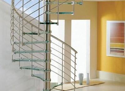 Cầu thang Inox -kiếng